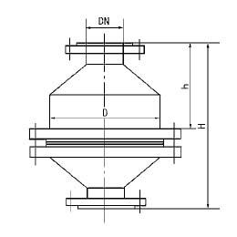 JF-IV型阻火器外形图